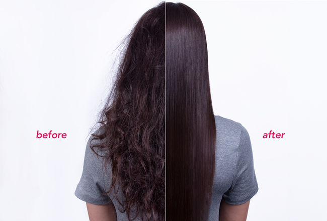Before straightening vs After straightening