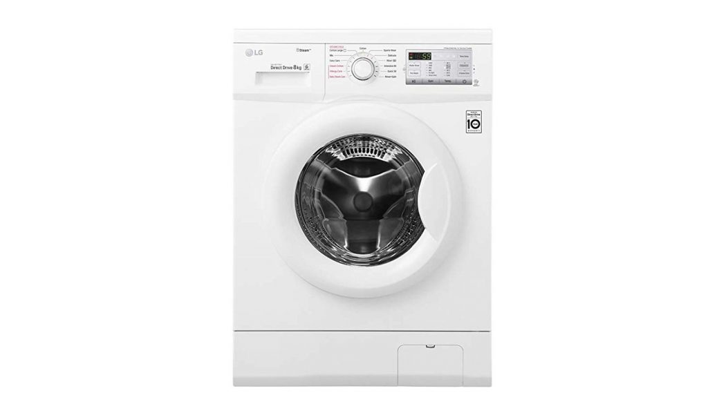 LG 8Kg Front Load best LG washing machine in UAE for mid-size family