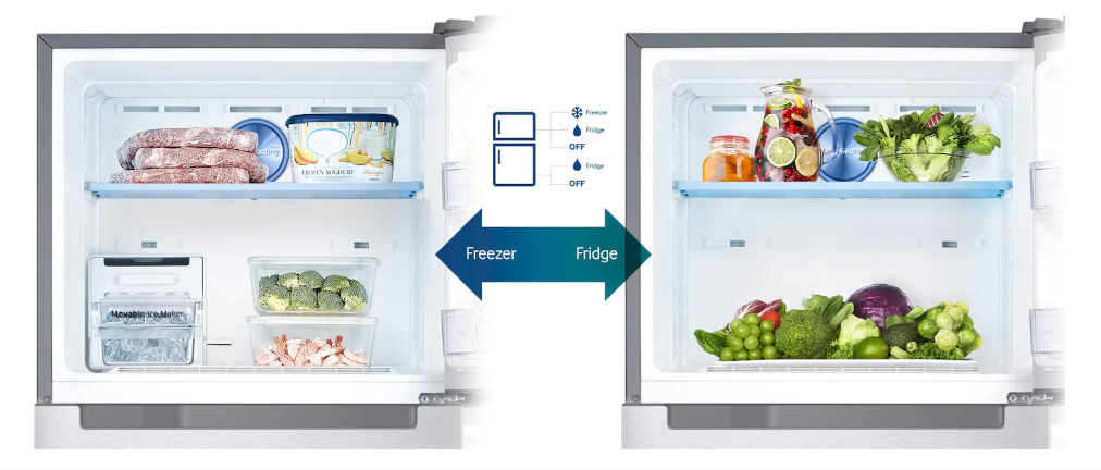 Samsung Refrigerator Review for UAE-  Also Convert your freezer section into a fridge so to keep all the fresh food