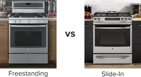 Free Standing vs Slide-in Cooking Range