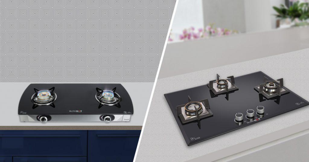 Free standing stove Vs in-built hob