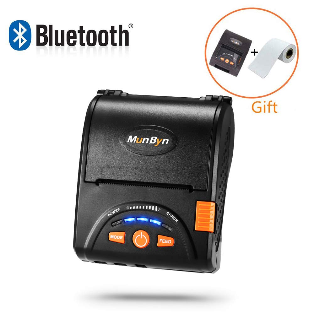 MUNBYN bluetooth mobile thermal receipt printer