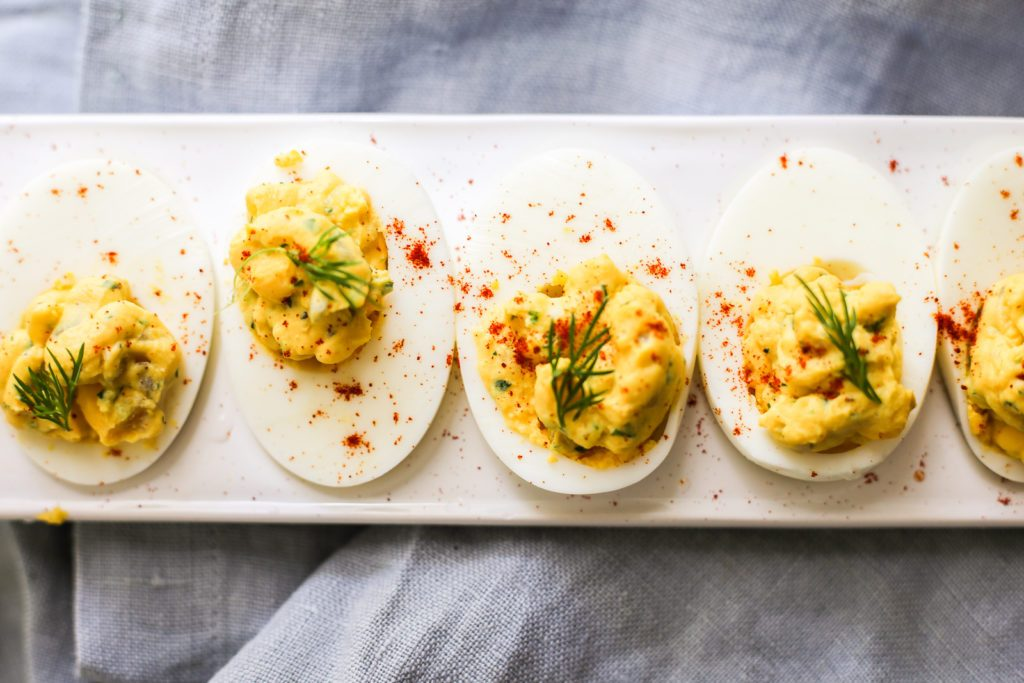 Garlic-Dill Deviled Eggs Recipe