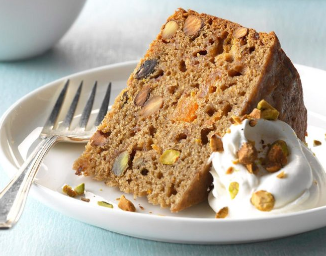 Mixed Fruit and Pistachio Cake Recipe