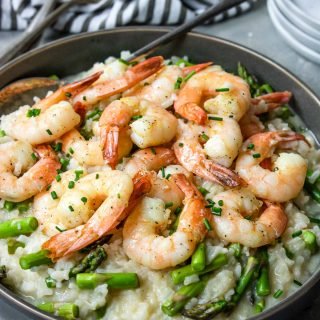 Risotto with Shrimp and Asparagus -Electric Pressure Cooker Recipes