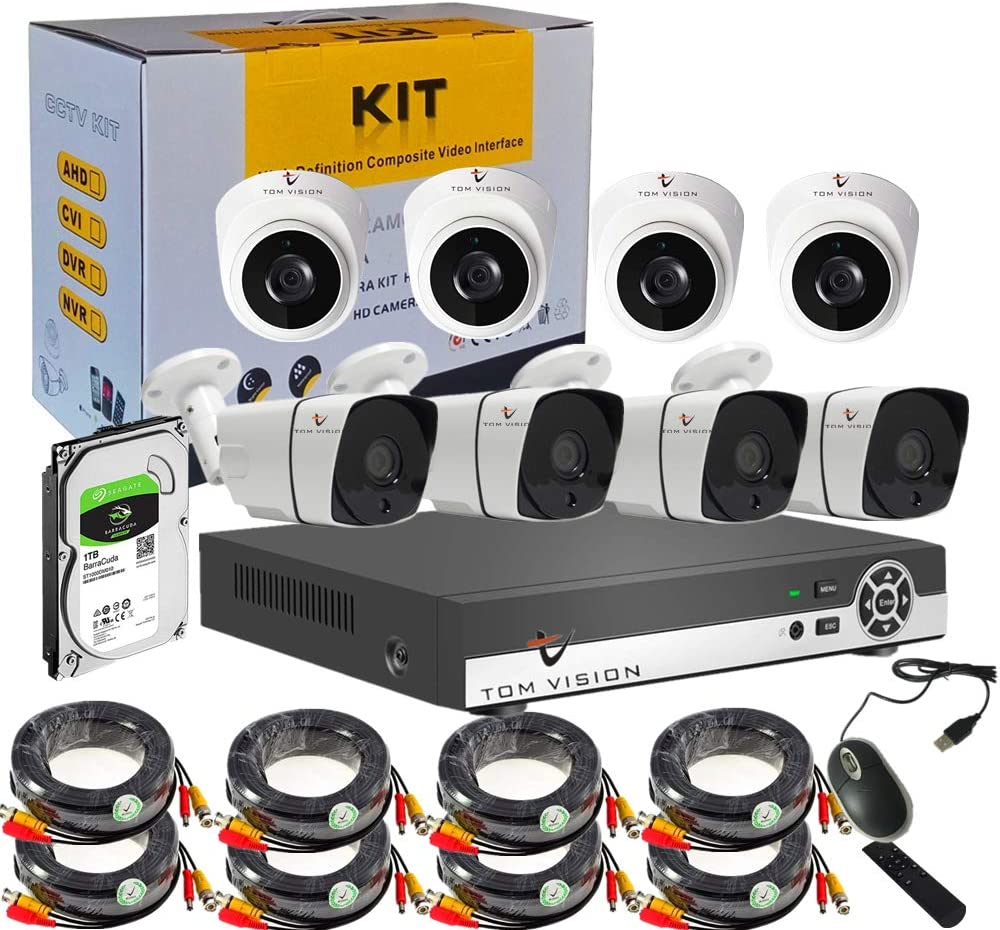 Tomvision 5 in 1 - Best CCTV security kit for shops and offices