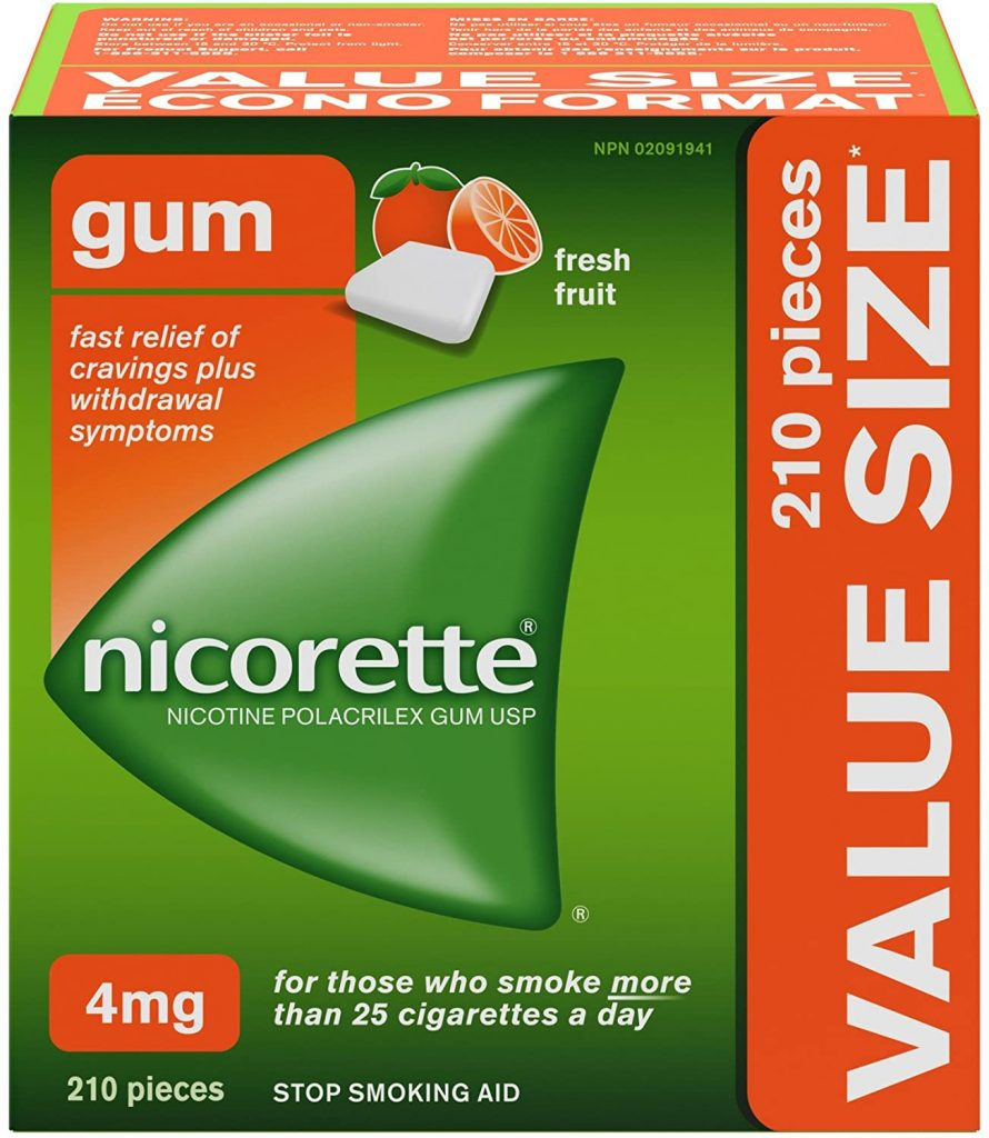 Nicorette Gum Nicotine Fresh Fruit flavour