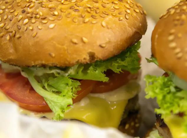 Medium-rare burger