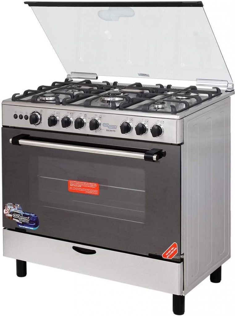 Super General Gas Cooker with 5 Burners
