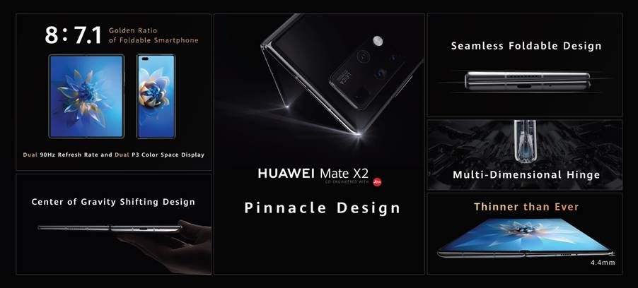Falcon Wing Design of the HUAWEI Mate X2