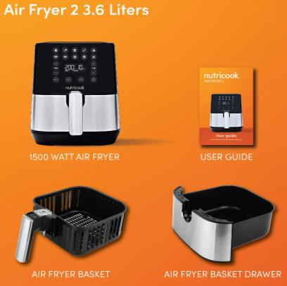 Nutricook Air Fryer 2 Stainless Steel