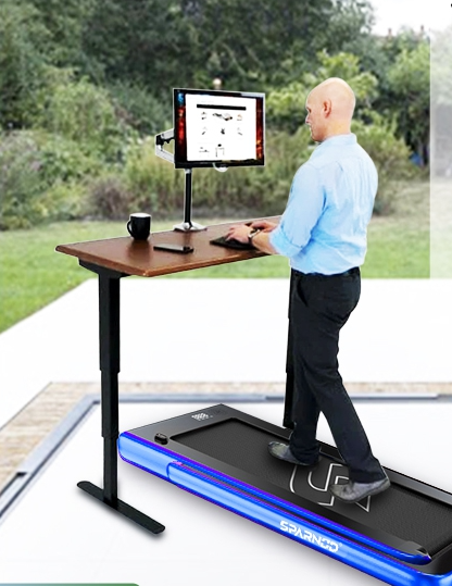 Sparnod Fitness 2 in 1 Treadmill (Home cum Under Desk Walking Pad) in UAE STH-3020